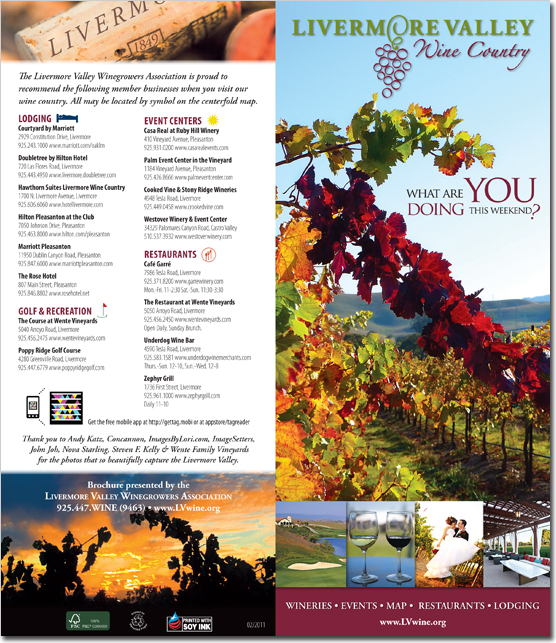 Livermore Valley Winegrowers Association - Wine Country Brochure (Outside)