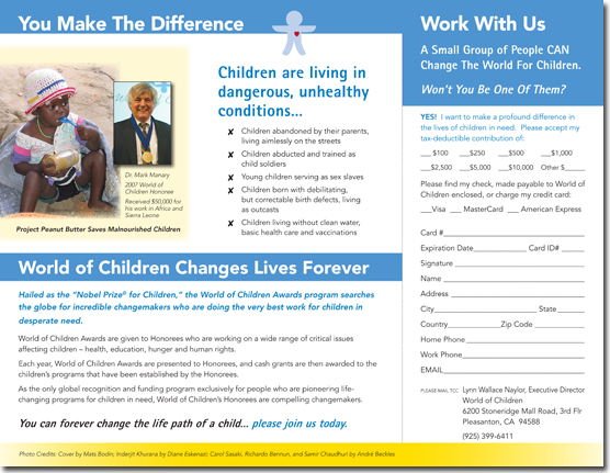 World of Children - Donor Brochure (Inside)