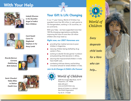 World of Children - Donor Brochure (Outside)