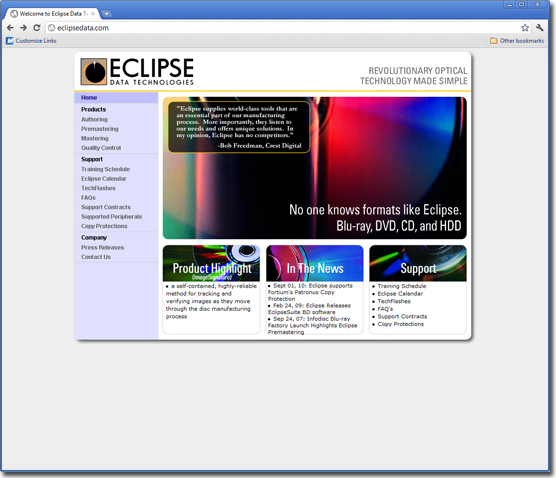 "<a href=""http://eclipsedata.com/"" rel=""noopener"" target=""_blank"">Eclipse Data Technologies - Website</a>"