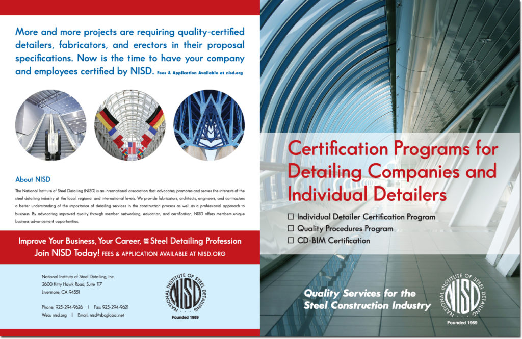 National Institute of Steel Detailing Certification Brochure (Outside)