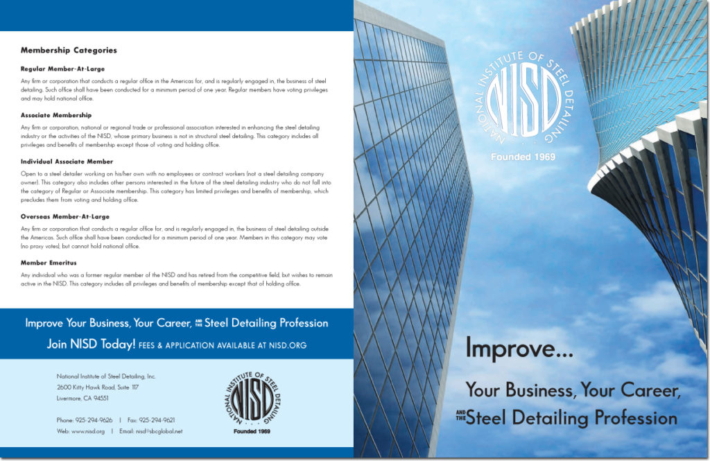 National Institute of Steel Detailing Membership Brochure (Outside)