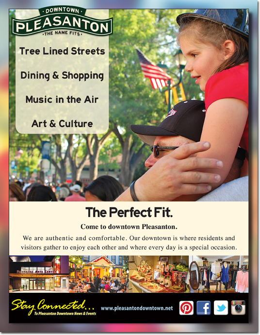 Pleasanton Downtown Association Magazine Ad